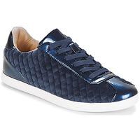 Sko Dame Lave sneakers André VELVET Blå