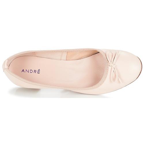 André Poetesse Beige - Gratis Fragt Sko Ballerinaer Dame 43100