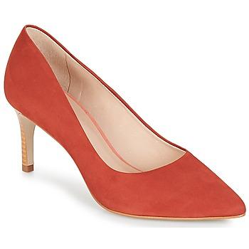 Sko Dame Højhælede sko André SCARLET Rød / Orange