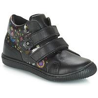 Sko Pige Lave sneakers Citrouille et Compagnie JUPETTE Sort / Blomstret
