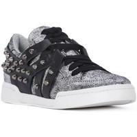 Sko Dame Lave sneakers At Go GO MICROCRACK ARGENTO Grigio