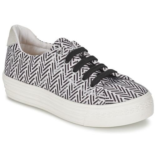 Sko Pige Lave sneakers Shwik STEP LO CUT Sort / Hvid