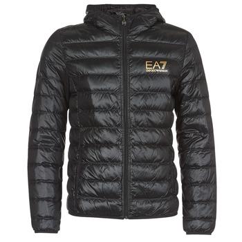textil Herre Dynejakker Emporio Armani EA7 TRAIN CORE ID M DOWN LIGHT Sort / Guld