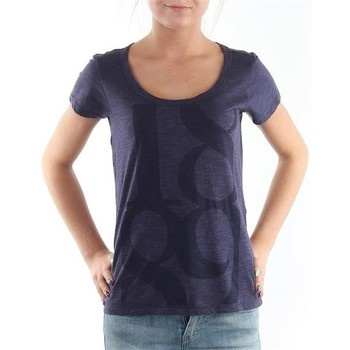textil Dame T-shirts m. korte ærmer Lee T-Shirt  Scoop Mystic Plum 40KFL87 blue