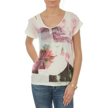textil Dame T-shirts m. korte ærmer Lee T-shirt  Night Cloud Dancer L485AUHA white