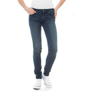 textil Dame Jeans - skinny Wrangler Molly River Washed W251ZB33T blue
