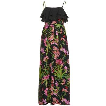 textil Dame Lange kjoler Morgan RASSIM Sort / Grøn
