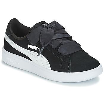 Sko Børn Lave sneakers Puma SMASH V2 RIB PS Sort