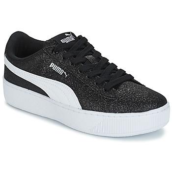 Sko Børn Lave sneakers Puma VIKKY PF GLIT J Sort