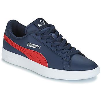 Sko Børn Lave sneakers Puma SMASH V2L JR182 Marineblå