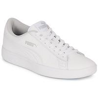 Sko Børn Lave sneakers Puma SMASH V2 L JR Hvid