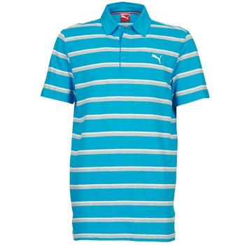 textil Herre Polo-t-shirts m. korte ærmer Puma FUN STRIPE PIQUE POLO Blå / Hvid / Grå