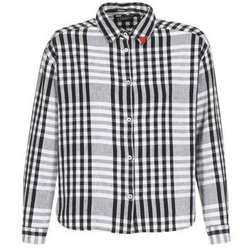 textil Dame Skjorter / Skjortebluser Maison Scotch FRINDA Sort / Hvid