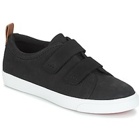 Sko Dame Lave sneakers Clarks Glove Daisy Sort / Kombi