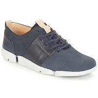Sko Dame Lave sneakers Clarks Tri Caitlin Navy / Kombi
