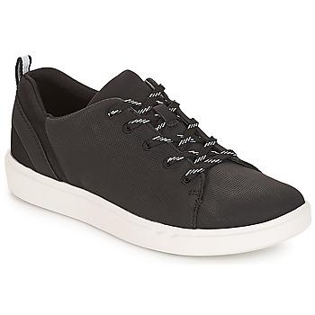 Sko Dame Lave sneakers Clarks Step Verve Lo. / Sort