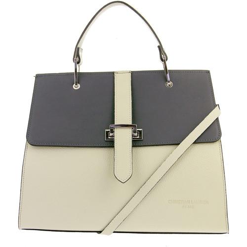 Tasker Dame Håndtasker m. kort hank Christian Laurier FIONA blanc gris