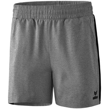 textil Dame Shorts Erima Short femme  Premium One 2.0 gris chiné/noir