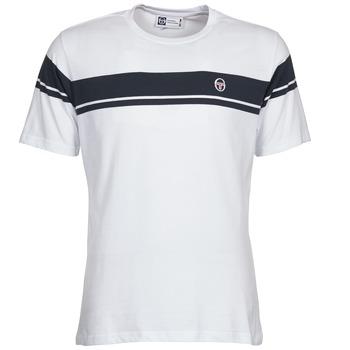 textil Herre T-shirts m. korte ærmer Sergio Tacchini YOUNG LINE Hvid