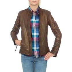 textil Dame Jakker / Blazere Wrangler skórzana  WR4030ZC81 brown