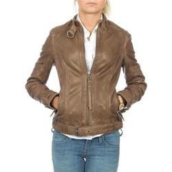 textil Dame Jakker / Blazere Wrangler skórzana  Montana WR4044ZCBR brown