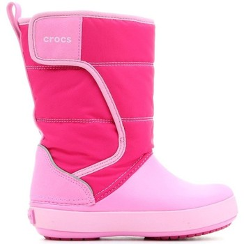 Sko Børn Vinterstøvler Crocs LODGEPOINT SNOW K 204660-6LR pink