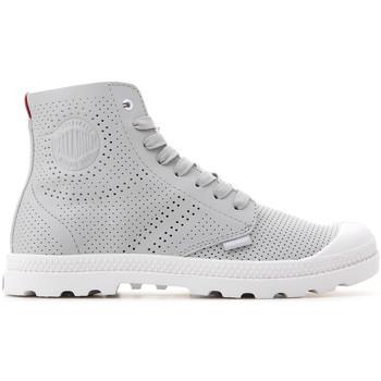 Sko Dame Høje sneakers Palladium Mid LP Perf 95756-073-M grey