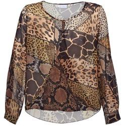 textil Dame Toppe / Bluser Alba Moda ANINA Brun