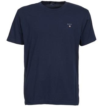 textil Herre T-shirts m. korte ærmer Gant SOLID Marineblå