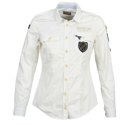 textil Dame Skjorter / Skjortebluser Napapijri GLENDA Hvid