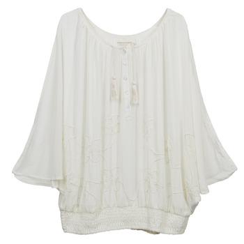 textil Dame Toppe / Bluser Cream DREY BEIGE