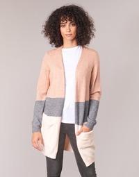 textil Dame Veste / Cardigans Only ONLQUEEN Pink / Grå