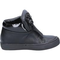 Sko Dame Høje støvletter Sara Lopez sneakers nero pelle BX704 Nero