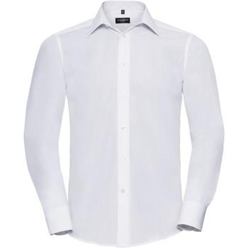 textil Herre Skjorter m. lange ærmer Russell 924M White