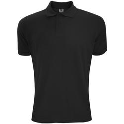textil Herre Polo-t-shirts m. korte ærmer Sg Polycotton Black