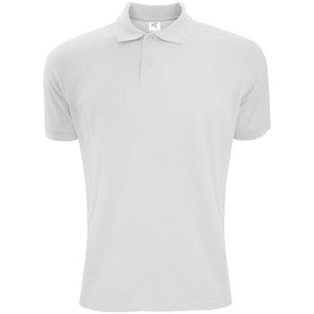 textil Herre Polo-t-shirts m. korte ærmer Sg Polycotton White