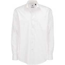 textil Herre Skjorter m. lange ærmer B And C SMP61 White