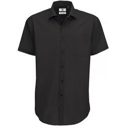 textil Herre Skjorter m. korte ærmer B And C SMP62 Black