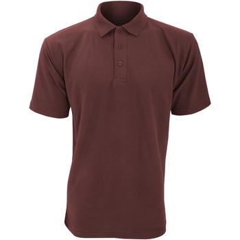 textil Herre Polo-t-shirts m. korte ærmer Ultimate Clothing Collection UCC003 Burgundy