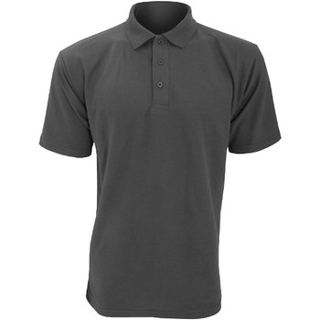 textil Herre Polo-t-shirts m. korte ærmer Ultimate Clothing Collection UCC003 Charcoal