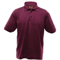textil Herre Polo-t-shirts m. korte ærmer Ultimate Clothing Collection UCC004 Burgundy