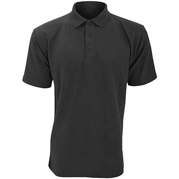 textil Herre Polo-t-shirts m. korte ærmer Ultimate Clothing Collection UCC004 Charcoal