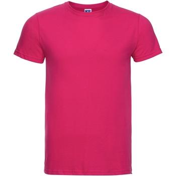 textil Herre T-shirts m. korte ærmer Russell R155M Fuchsia