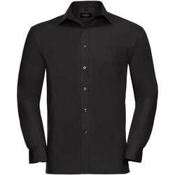 textil Herre Skjorter m. lange ærmer Russell 936M Black