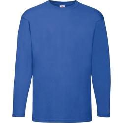 textil Herre Langærmede T-shirts Fruit Of The Loom 61038 Royal