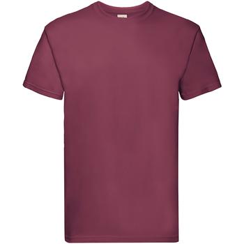textil Børn T-shirts m. korte ærmer Fruit Of The Loom 61044 Burgundy