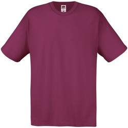 textil Herre T-shirts m. korte ærmer Fruit Of The Loom 61082 Burgundy