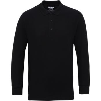 textil Herre Polo-t-shirts m. lange ærmer Gildan 85900 Black