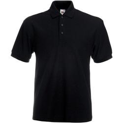 textil Herre Polo-t-shirts m. korte ærmer Fruit Of The Loom 63204 Black
