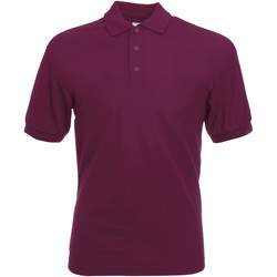 textil Herre Polo-t-shirts m. korte ærmer Fruit Of The Loom 63402 Burgundy